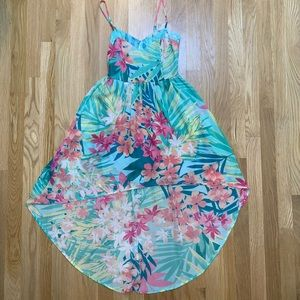 Mimi Chica tropical high low dress